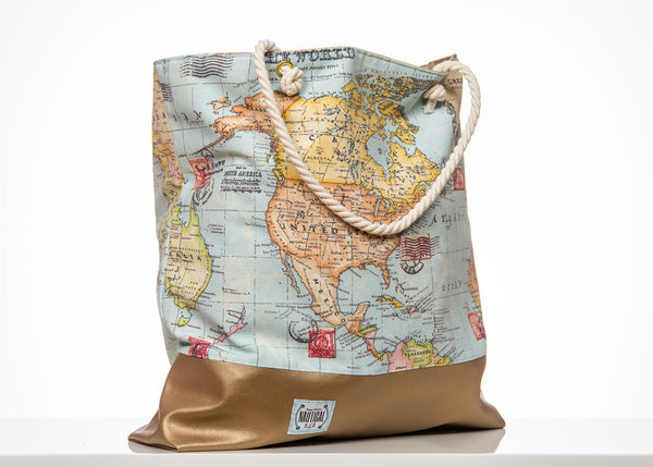 "Strandtasche ""The World"""
